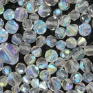 mix of crysal ab faceted beads and crystals