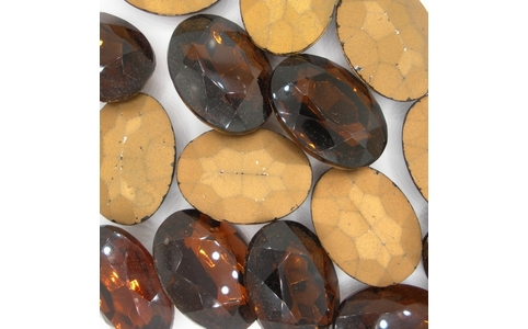 25 x 18mm Brown Oval Cabochon (Vintage) Cab55