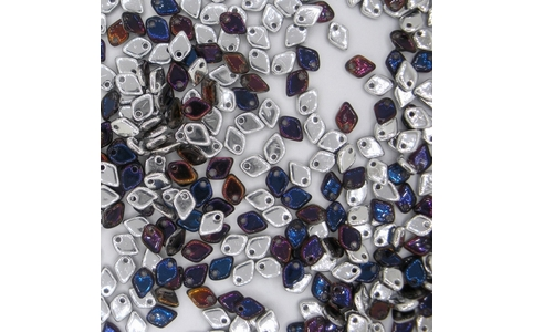 Dragon Scale beads in Crystal Bermuda Blue