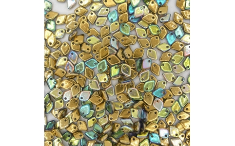 Dragon Scale beads in Crystal Golden Rainbow