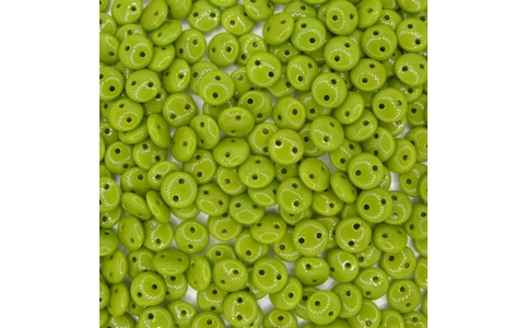 25 x Opaque Olive two hole Lentils