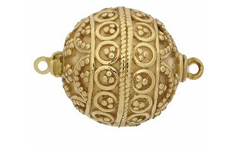 Claspgarten Gold ball clasp with 1 row 10001