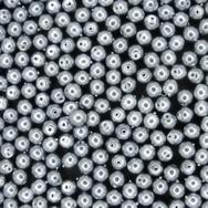 50 x 4mm Silver pearls from Preciosa 70444