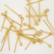 50 x 2.1cm eye pins in Gold