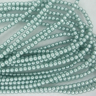 50 x 2mm pearls Baby Blue