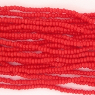 1 string of Size 13/0 Czech charlottes in Opaque Cherry Red
