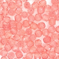 10 x 6mm window beads in Pink