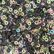 3g O beads in Black Vitrail