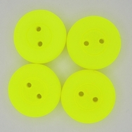 16mm glass button in Neon Yellow