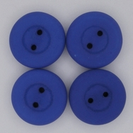 16mm glass button in Neon Dark Blue