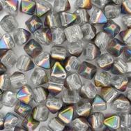 10 x Two hole Crystal Vitrail 6mm Pyramids