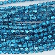 50 x 4mm faceted beads in Metallic Aqua Ice