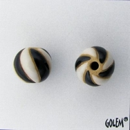 CSB-06-A Black and White round bead