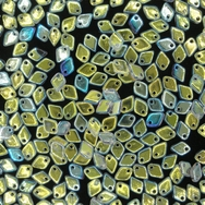 Dragon Scale beads in Crystal AB