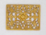 M47 - 3.4x2.6cm filigree disc in Gold (1950s)
