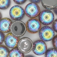4 x 14mm dome beads in Graphite Rainbow