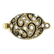 Claspgarten Old Gold clasp with 1 row 14278 - 11x19mm
