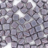 6mm Lila Vega Lustre square Silky beads