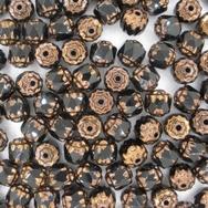 10 x 6mm window beads in Black/Bronze
