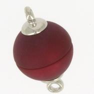 Claspgarten Matt Wine Red magnetic round clasp 14844-005 - 12mm