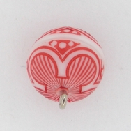 M5 - 14mm magnetic round clasp in Red/White