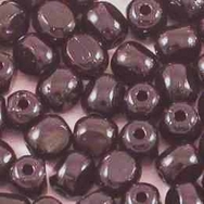 50 x 4mm three cut beads in Black
