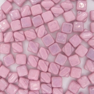 25 x 6mm Lila Lustre square Silky beads