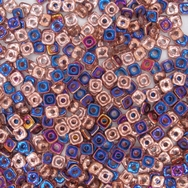 3g Quad beads in Crystal Sliperit