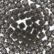 50 x CzechMate QuadraTiles in Metallic Suede Dark Green