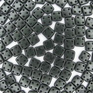 50 x CzechMate QuadraTiles in Metallic Suede Dark Forest