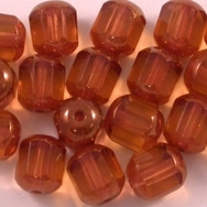 10 x 8mm window beads in Topaz/Bronze