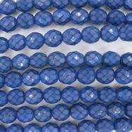 19 x 8mm snake skin beads in Cobalt Blue