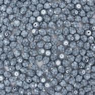 38 x 4mm snake skin beads in Fog Blue