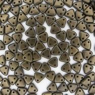 50 x CzechMate triangles in Polychrome Dark Green