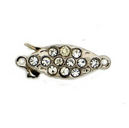 14305 - Claspgarten Silver clasp with 1 row - 15x7mm
