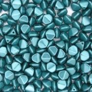25 x Pastel Emerald large Pinch beads