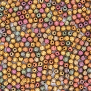 50 x 3mm melon beads in Matte Metallic Bronze Iris