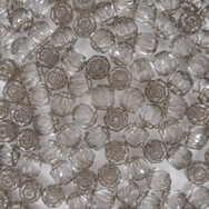 10 x 6mm window beads in Crystal/Platina