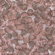 10 x 6mm window beads in Rose/Platina