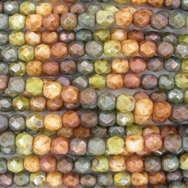 25 x 5mm faceted mix of Picasso beads