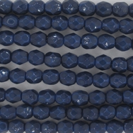 38 x 4mm snake skin beads in Cobalt Blue