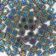 50 x CzechMate QuadraTiles in Green Iris