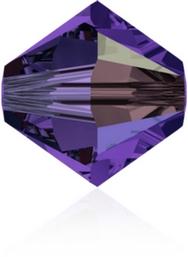 24 x 4mm bicones in Purple Velvet AB (Swarovski) 277