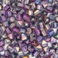 10 x 6mm pyramids in Magic Purple