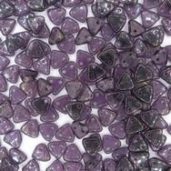 50 x CzechMate triangles in Tanzanite Pink/Topaz Lustre