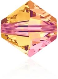 24 x 4mm bicones in Crystal Astral Pink (Swarovski)