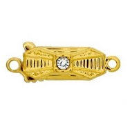 Claspgarten Gold clasp with 1 row 12031 - 12.5x5mm
