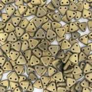 50 x CzechMate Triangles in Metallic Suede Gold
