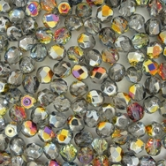 50 x 6mm faceted Crystal Marea AB beads