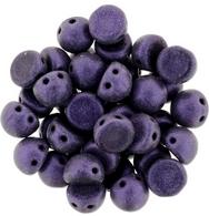 10 x CzechMate cabochons in Metallic Suede Purple